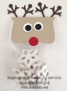 Reindeer Treat Pouch - Bag Topper by beckcjb - Cards and Paper Crafts at Splitcoaststampers