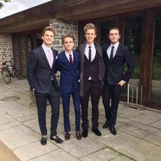 Marcus, joe, Caspar, and alfie at jim and tanyas wedding
