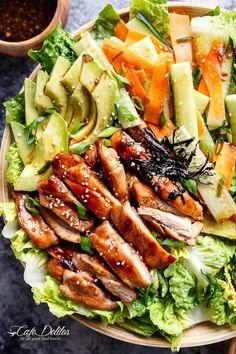Teriyaki Glazed Chicken Salad | http://cafedelites.com