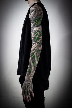 Tattoo Stepan Negur - tattoo's photo In the style Biomechanical, Male, Differe Full Sleeve Tattoos, Top Tattoos, Sexy Tattoos, Body Art Tattoos, Biomech Tattoo, Biomechanical Tattoo Design, Bio Organic Tattoo, Full Sleeves Design, Mechanic Tattoo