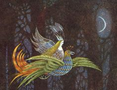 çizgili masallar: Thorn Rose by Errol Le Cain detail