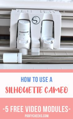 Learn how to use your Silhouette Cameo. Unbox, cut and apply adhesive vinyl, navigate through Silhouette Studio and cut HTV in this free online course. Go as slow or as fast as you would like with these fifteen minute (or less) video modules. Silhouette Cameo Boxes, Silhouette Cameo Tutorials, Silhouette School, Silhouette America, Silhouette Machine, Silhouette Projects, Free Silhouette, Silhouette Files, Silhouette Cutter