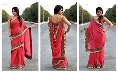 Sari Draping - 9 Unique Way to Drape a Sari, full post here, http://runwaysandrattles.com/wrap-me-pretty/