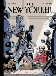 """This week's cover, """"Tech Support,"""" by R. Kikuo Johnson:"""