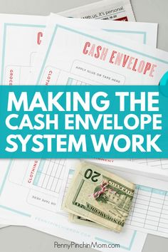 How to create and use a cash budget system.  Get envelope printables so you can learn how to control your spending, manage your money and get out of debt.  #cashbudget #cashenvelopes #getoutofdebt #savingmoney
