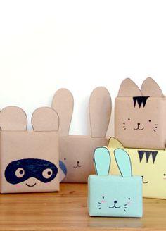 animal giftwrap! so cute!