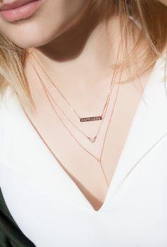 NEWONE-SHOP.COM I #layered #necklaces