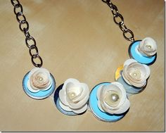 DIY Necklace:  Believe it or not this necklace was made from washers and duct tape!