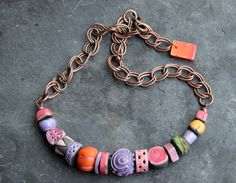 Paul Klee Necklace by GinkgoetCoquelicot on Etsy