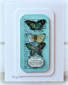 #papercraft #card. IC435 Butterflies by Biggan - Cards and Paper Crafts at Splitcoaststampers