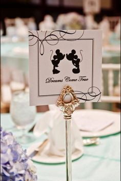 disney wedding maybe add a little bit of mickey in there somewhere. if i cant have my disney wedding i will get as close as i can too it! Wedding Table Names, Wedding Themes, Wedding Decorations, Wedding Ideas, Disney Wedding Centerpieces, Paper Centerpieces, Disney Decorations, Wedding Quotes, Centerpiece Ideas