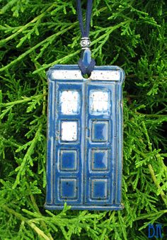 Doctor Who Christmas Ornament - Tardis - Dr. Who Inspired