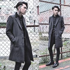 Get this look: http://lb.nu/look/8010258  More looks by IVAN Chang: http://lb.nu/ivan  Items in this look:  Tastemaker 達新美 Coat, Tastemaker 達新美 Shirt, Asos Superskinnyjeans, While Shoes   #artistic #street #vintage