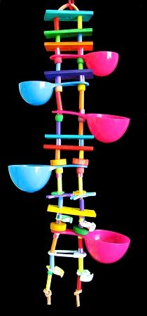 hmm... perhaps I could make something similar as a 'treat cup' ladder
