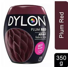 DYLON Washing Machine Fabric Dye Pod, Plum Red, 1pk of 350g FREE P&P | eBay Red Fabric, How To Dye Fabric, Christams Gifts, Red Plum, Washing Machine, Free, Ebay, Red Weave