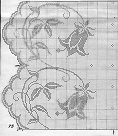 Gardine Glockenblumen