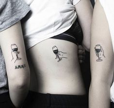 Matching BFF Tattoos That Prove Your Friendship Is Forever - 42 Coolest Matching BFF Tattoos That Prove Your Friendship Is Forever Line Art Tattoos, Sexy Tattoos, Love Tattoos, Body Art Tattoos, Small Tattoos, Tattoos For Women, Tattoos For Guys, Tatoos, Fashion Tattoos