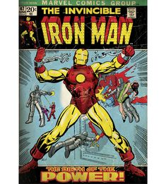 Iron Man: The Invincible Iron Man Mural - Officially Licensed Marvel Removable Wall Adhesive Decal Large by Fathead   Vinyl