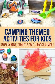 Indoor Camping Activities for Kids: Science, Sensory and Art - These indoor camping activities for kids are excellent for pretend play or for prepping kids for ou - Camping Ideas, Camping Activites For Kids, Camping Bedarf, Summer Camp Activities, Camping With Toddlers, Indoor Camping, Toddler Camping, Art Activities, Outdoor Toddler Activities