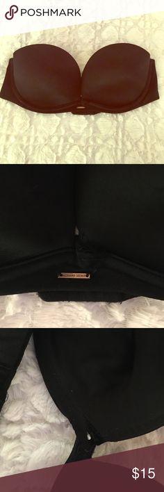 Victoria's Secret black strapless push up Cut off tag but is around a size 34 C or D. Victoria's Secret Intimates & Sleepwear Bras