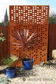 RADIO CRUSH corten garden screens and wall panels