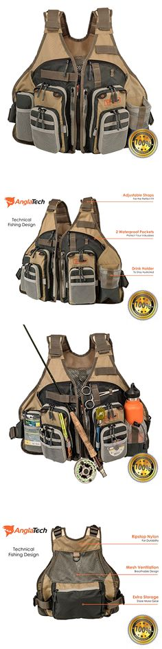 Vests 65982: Fly Fishing Vest For Anglers Mesh Adjustable For Men And Women Color: Sand -> BUY IT NOW ONLY: $83.91 on eBay!