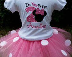Minnie Mouse Birthday Shirt Minnie Mouse por BellaFashionDesignz