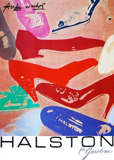 Halston for Garolini ad by Warhol