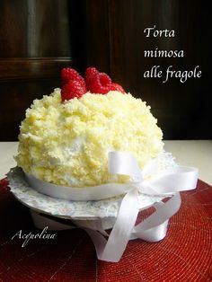 Acquolina: Torta mimosa alle fragole