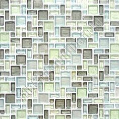 Recycled Glass Tile - Multi Size LEED Classic Mosaic Glass Tile Collection - Magic A - Blue Green Gray Blend - Iridescent Home Renovation, Home Remodeling, Ranch Kitchen, Kitchen Backsplash, Galley Kitchens, Dining Decor, Glass Mosaic Tiles, Kitchen Fixtures, Green And Grey