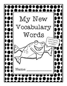 Vocabulary Squares (Frayer Model Vocabulary Booklets) *FREEBIE* Repinned by SOS Inc. Resources pinterest.com/sostherapy/.