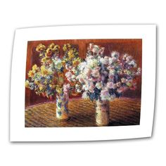 Two Vases by Claude Monet Painting Print on Canvas