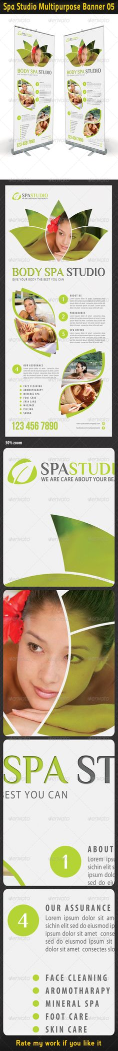 Spa Studio Multipurpose Banner 05 #GraphicRiver High impact Outdoor Banner Template Layout, perfect for business advertisement or product