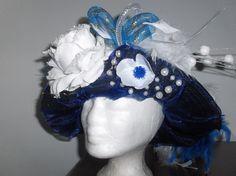 Blauw vastelaoves-hudje   Leuke blauwe carnavals hoed