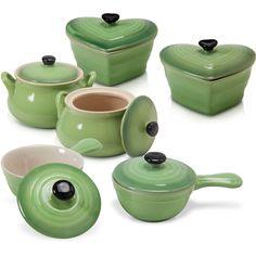 Conjunto de Mini Panelas Cerâmica Sortida Verde 6 Peças - La Cuisine por R$ 119,00