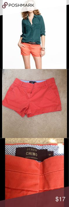"""J.Crew Chino shorts Burnt orange 3"""" inches shorts in excellent condition, no fading. J. Crew Shorts"""