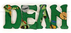 Personalized Teenage Mutant Ninja Turtle Lettering for Baby Nursery or Child's name