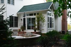 Entrance traditional and philadelphia on pinterest for Average cost of in law suite addition