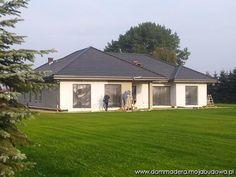 blog budowlany - mojabudowa.pl Bungalow House Design, 3 Bedroom House, Dream House Plans, Home Fashion, House Ideas, Mansions, House Styles, Outdoor Decor, Photos