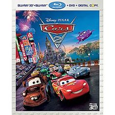 Disney Cars 2 - 5-Disc Set   Disney StoreCars 2 - 5-Disc Set - Star race car Lightning McQueen and tow truck Mater take their friendship on the road when they head overseas to compete in this heartwarming sequel to Disney's acclaimed animated classic <i>Cars</i>.