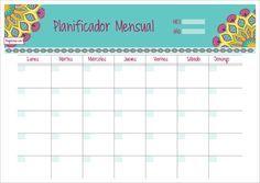 Planificador mensual imprimible - indian