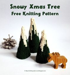Snowy Xmas Tree - free knitting pattern by Knitting and so on