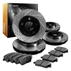 Advice Concepts highest regarded Series Drilled And Slotted Rotors And Ceramic Pads - Front and Rear Lexus Sc430, Anti Lock Braking System, Ceramic Brake Pads, Brake System, Brake Parts, Brake Rotors, Concept Cars, Drill