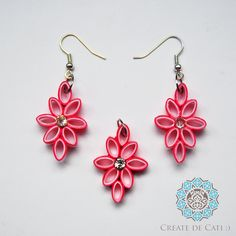 Quilling set (earrings + pendant)
