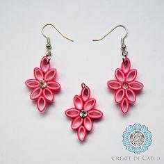 Quilling set (earrings + pendant)