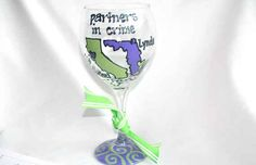 Matching wine glasses so you never have to drink wine alone again.