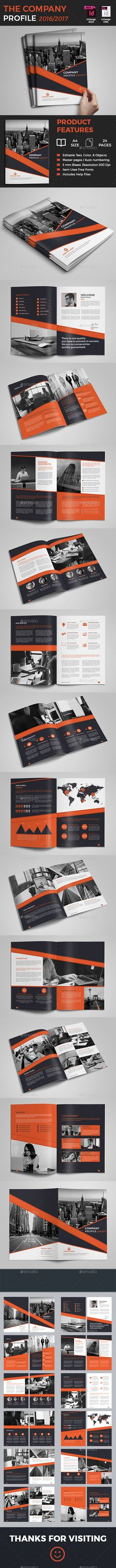 The Company Profile Brochure Template 	InDesign INDD. Download here: http://graphicriver.net/item/the-company-profile/16687558?ref=ksioks