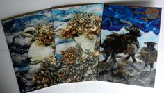 Blank Greetings Cards x 3  Wild Sheep by WildernessFelt on Etsy, £7.00