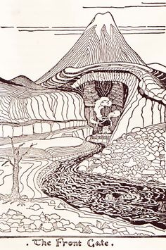 "A bit more than ""Tolkien Inspired"", these illustrations are by Tolkien himself!  From an early edition of The Hobbit"
