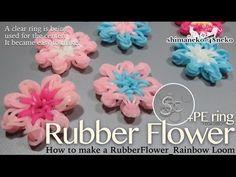 Rubber Flower:ニットリングを使ってゴムの花を作る(Hook Only)